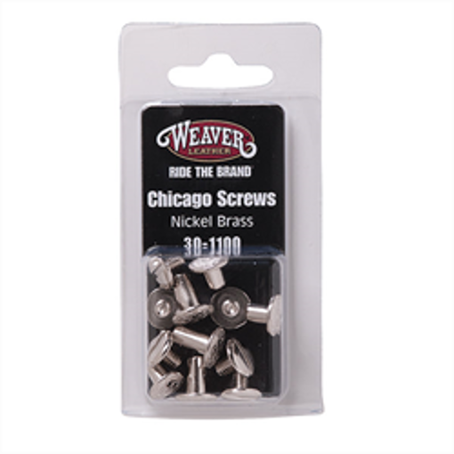 Picture of 30-1100 Nickel Brass Chicago Screw Handy Packs