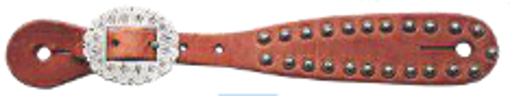 Picture of 6067  Harness Leather Spur Straps with Spots/Ladies