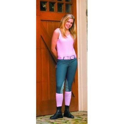 Picture of 150755 Breeches Tuffrider Ladies Zip Front Knee Patch Low Rise