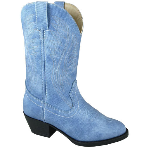 Picture of 1831 Smoky Mountain Childrens Girls Mesquite II Denim Blue Faux Leather Cowboy Boots