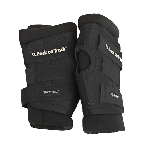 Picture of 2021 Back on Track Therapeutic Padded Royal Hock Boots with Holes