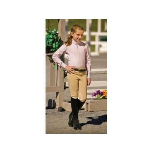 Picture of 150784 Breeches Tuffrider Children's Ribbed Low-rise Breeches