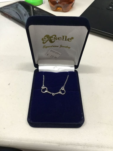 Picture of Exselle Equestrian Jewelry Snaffle Bit Necklace